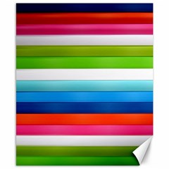 Colorful Plasticine Canvas 8  x 10