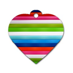 Colorful Plasticine Dog Tag Heart (one Side)