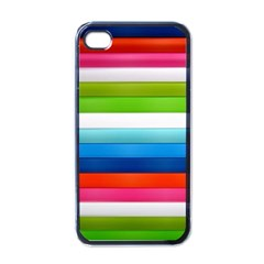 Colorful Plasticine Apple iPhone 4 Case (Black)