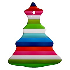 Colorful Plasticine Christmas Tree Ornament (Two Sides)
