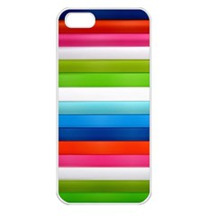 Colorful Plasticine Apple iPhone 5 Seamless Case (White)