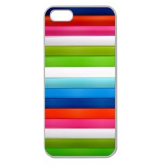 Colorful Plasticine Apple Seamless iPhone 5 Case (Clear)