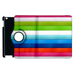 Colorful Plasticine Apple Ipad 2 Flip 360 Case