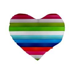 Colorful Plasticine Standard 16  Premium Heart Shape Cushions