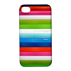 Colorful Plasticine Apple iPhone 4/4S Hardshell Case with Stand