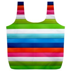 Colorful Plasticine Full Print Recycle Bags (l)