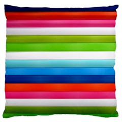 Colorful Plasticine Large Flano Cushion Case (Two Sides)