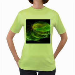 Yellow Smoke Women s Green T Shirt