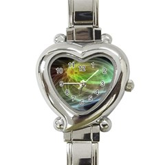 Yellow Smoke Heart Italian Charm Watch