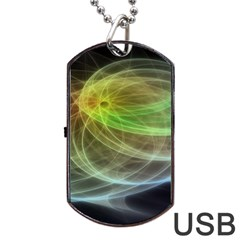 Yellow Smoke Dog Tag Usb Flash (one Side)