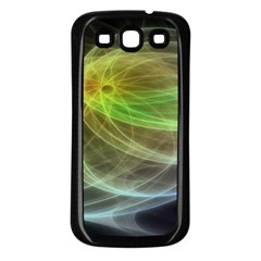 Yellow Smoke Samsung Galaxy S3 Back Case (Black)