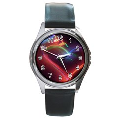 Neon Heart Round Metal Watch