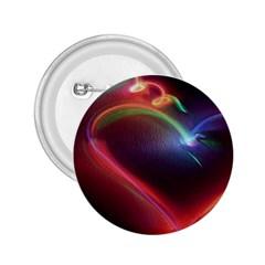 Neon Heart 2.25  Buttons