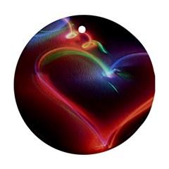 Neon Heart Ornament (round)