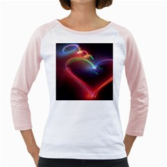 Neon Heart Girly Raglans