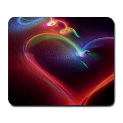 Neon Heart Large Mousepads