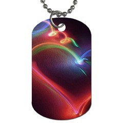 Neon Heart Dog Tag (two Sides)