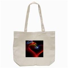 Neon Heart Tote Bag (Cream)