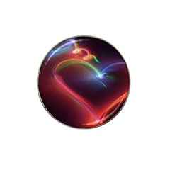 Neon Heart Hat Clip Ball Marker (10 pack)