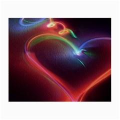 Neon Heart Small Glasses Cloth
