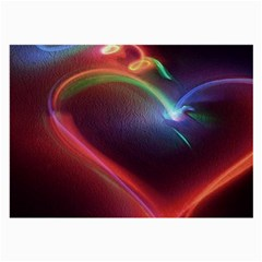 Neon Heart Large Glasses Cloth