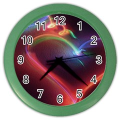 Neon Heart Color Wall Clocks