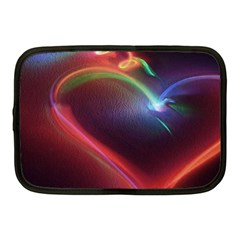 Neon Heart Netbook Case (medium)