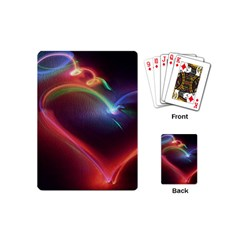 Neon Heart Playing Cards (Mini)