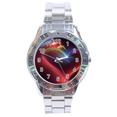 Neon Heart Stainless Steel Analogue Watch