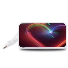 Neon Heart Portable Speaker (white)