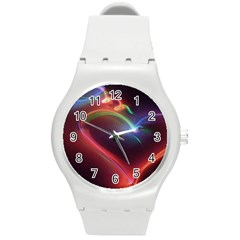 Neon Heart Round Plastic Sport Watch (M)