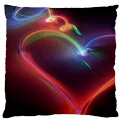 Neon Heart Large Cushion Case (Two Sides)