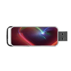 Neon Heart Portable Usb Flash (two Sides)