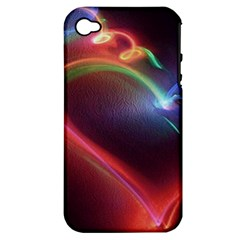 Neon Heart Apple iPhone 4/4S Hardshell Case (PC+Silicone)