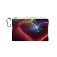 Neon Heart Canvas Cosmetic Bag (S)