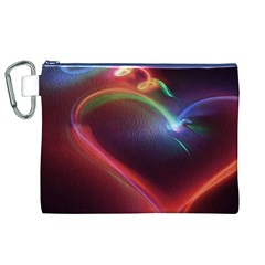 Neon Heart Canvas Cosmetic Bag (xl)