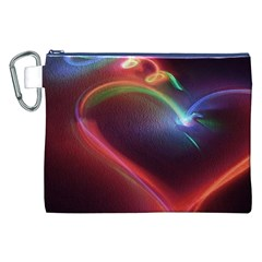 Neon Heart Canvas Cosmetic Bag (xxl)