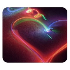 Neon Heart Double Sided Flano Blanket (Small)