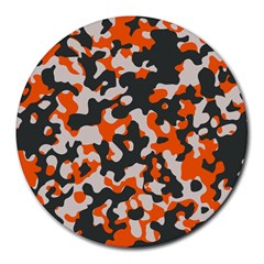Camouflage Texture Patterns Round Mousepads