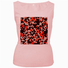 Camouflage Texture Patterns Women s Pink Tank Top