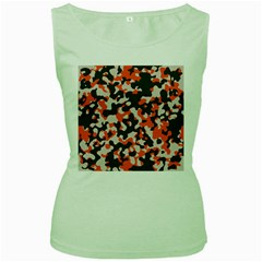 Camouflage Texture Patterns Women s Green Tank Top