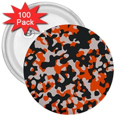 Camouflage Texture Patterns 3  Buttons (100 pack)