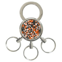 Camouflage Texture Patterns 3 Ring Key Chains