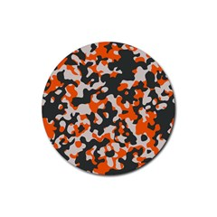 Camouflage Texture Patterns Rubber Round Coaster (4 Pack)