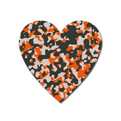 Camouflage Texture Patterns Heart Magnet