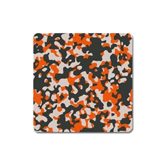 Camouflage Texture Patterns Square Magnet