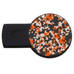 Camouflage Texture Patterns USB Flash Drive Round (1 GB)