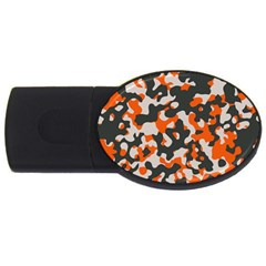 Camouflage Texture Patterns Usb Flash Drive Oval (4 Gb)