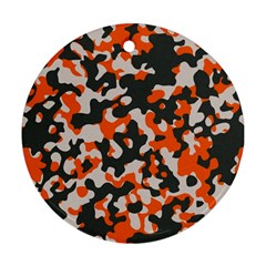 Camouflage Texture Patterns Round Ornament (Two Sides)