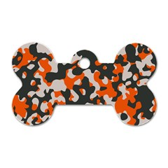 Camouflage Texture Patterns Dog Tag Bone (Two Sides)